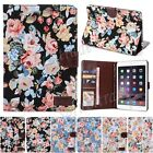 Retro Flower Flip PU Leather Wallet Case Card Cover Shell Stand For iPad Mini 3