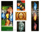 Hand Painted Buddha Painting Oil on Canvas Art on Wooden Frame D01