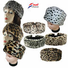 Ladies Womens Plain & Animal Skin Fluffy Fake Faux Fox Fur Headband Ear Warmer »