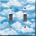 Light Switch Plate Cover - Sky with clouds - Heaven blue natural scene deco view