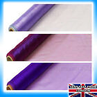PURPLE CADBURY Organza Fabric 9 metres SWAGS DRAPING RUNNER CHAIR BOWS