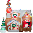 CHRISTMAS SANTA ANIMATED GINGERBREAD HOUSE INFLATABLE AIRBLOWN YARD DECORATION
