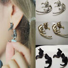 1 Pair Fashion Long Tail Small Leopard Cat Puncture Girls And Boys Stud Earrings