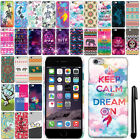For Apple Iphone 6 Plus 5.5 inch Cute Design PATTERN HARD Case Back Cover + Pen