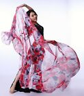 New Belly Dance Costume Flower Silk Shawl Veil 240120cm 5 colours