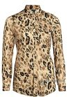 Plus size 18-34 UK Ladies womans soft touch leopard print long blouse top