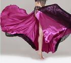 New Professional Belly Dance Costume 2 layers with slit Lace Skirt Dress 7 color