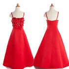 Straps Girls Formal Bridesmaid Dresses Flower Girl Party Prom Dress 2Y to 12YRS