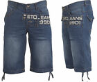 MENS SHORTS EMS466 BLUE DENIM SHORTS BRANDED SUMMER SHORTS WAIST SIZE 28-42