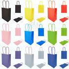 COLOURED PARTY BAGS PAPER GIFT LOOT FAVOR KRAFT BAG HANDLES NEW