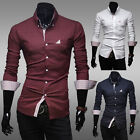 New Cool Korean Men's Top Design Slim Fit Long Sleeve Smart Stylish Shirts