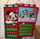 DISNEY MICKEY MOUSE COUNT DOWN TO CHRISTMAS FABRIC CALENDAR NEW WITH TAGS