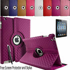 360° Rotating Diamond Leather Folding Folio Stand Case Cover For Apple iPad mini