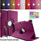360° Rotating 3D Leather Folding Folio Stand Case Cover For Samsung Tab 3 10.1""