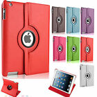 360 DEGREE ROTATING LEATHER STAND CASE COVER FOR APPLE NEW iPad 2 3 4