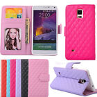 1PCS Leather Wallet Style Flip Stand Case Cover For Samsung Galaxy Note 4 Tide