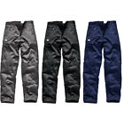 DICKIES MENS REDHAWK WORK WEAR COMBAT TROUSERS KNEE PAD POCKETS BLACK GREY NAVY