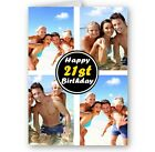 Personalised All Occasions Collage Photos Added A5 Happy Birthday Christmas Card