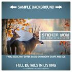 Rear Window Truck Graphic Decal - Deer Forest Hunting Farm Oak - 3 Sizes