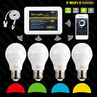 4X 2.4G RF Wireles Milight RGBW E27 6W LED Bulb Light Lamp + WiFi iOS Android