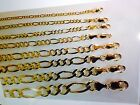 "2MM- 12MM 14K SOLID YELLOW GOLD FIGARO LINK WOMEN/ MEN'S NECKLACE CHAIN 16""-30"""