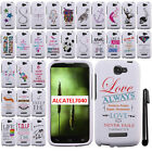 For Alcatel One Touch Fierce 2 7040T Cute Design PATTERN HARD Case Cover + Pen