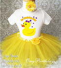 Rubber Ducky Duck Yellow 1st First Birthday Tutu Outfit Shir