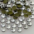 100PCS 3D Gold Silver Spiral Carved Round Alloy Nail Art Metal Gems Decorations
