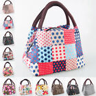 Hot Women Outdoor Canvas Lunch Casual Handbag Picnic Totes Carry Bag Box Storage