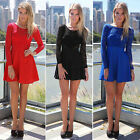 Women Long Sleeve Backless Sexy Evening Party Bowknot Lace Dress Trendy 2015