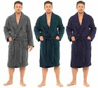 Mens Pure 100% Cotton Luxury Towelling Bath Robes Dressing Gowns Size UK M - XL