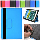 "Universal 7|I Adjustable Folding Folio Cover & Screen Guard fits 7"" Tablet-s"