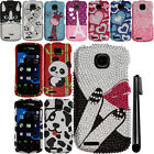 For Pantech Marauder ADR910 DIAMOND BLING CRYSTAL HARD Case Phone Cover + Pen