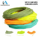 Weight Forward Floating Fly Line Fly Fishing Line Welded Loop WF2-8 Weight Green