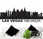 """Wall Decal Sticker Las Vegas Skyline 22"""" Tall 55"""" Wide in White or Black"""