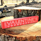 Happy Valentine's Day Wooden Shelf Sign - 30 Different Color Combinations!