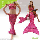 KIDS SPANDEX MERMAID TAIL FOR SWIMMING MULTI VARIATION LISTING FIN BATH BARBIE