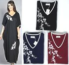 KAFTAN Silver Rose La Marquise Summer Ladies Jersey Floral Kaftans - 3 Colours