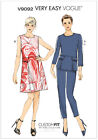 Very EASY Vogue 9092 Shift Dress Mod 60s Top Trousers Pants Sewing Pattern V9092
