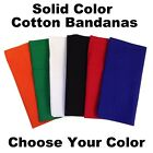 Bandanas (100% Cotton) - Solid Colour