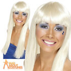Dancing Queen Wig 70s Disco Abba Long Blonde Super Trooper Womens Ladies New