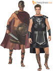 Mens Deluxe Spartan Warrior Gladiator Greek Roman Fancy Dress Costume Outfit