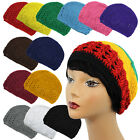 Coopy Net Color Rasta Braided Knit Crochet Skull Beanie Beret Kufi Hat Cap