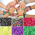 180pcs New Mix Tie Dye Polka Dot Loom Rubber Bands 15 Clips 1 Hook Refill CA