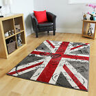 New Modern Cheap Red Grey Retro Union Jack Rugs Soft Stylish Postcard Print Mat
