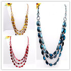 Assorted Handmade Coconut Shell Carved Moon-shape Beads Jewelry Necklace Option