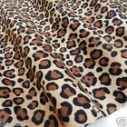 PER FQ/1/2 metre Brown Cheetah print dressmaking/craft 100 % cotton fabric