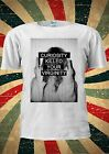 Curiosity Killed Your Virginity Swearing Girl Fing T Shirt Men Women Unisex 1303