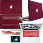 Dark Red Matte rubberized Hard case Laptop cover For Macbook Air 11 13 Pro 13 15