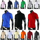 Mens Womens Solid Basic Casual Golf Collared Polo Tshirts Style Cotton Top Tee